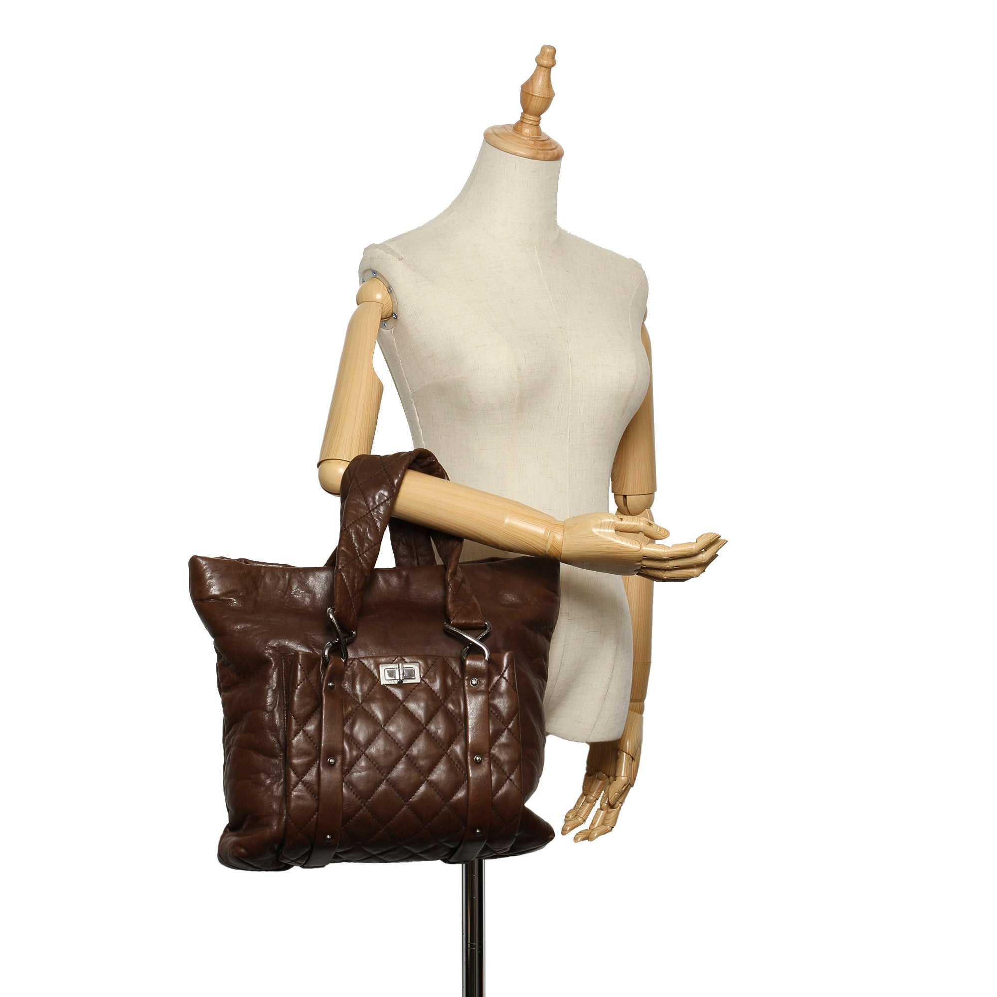 Chanel Brown 8 Knots Lambskin Tote Bag