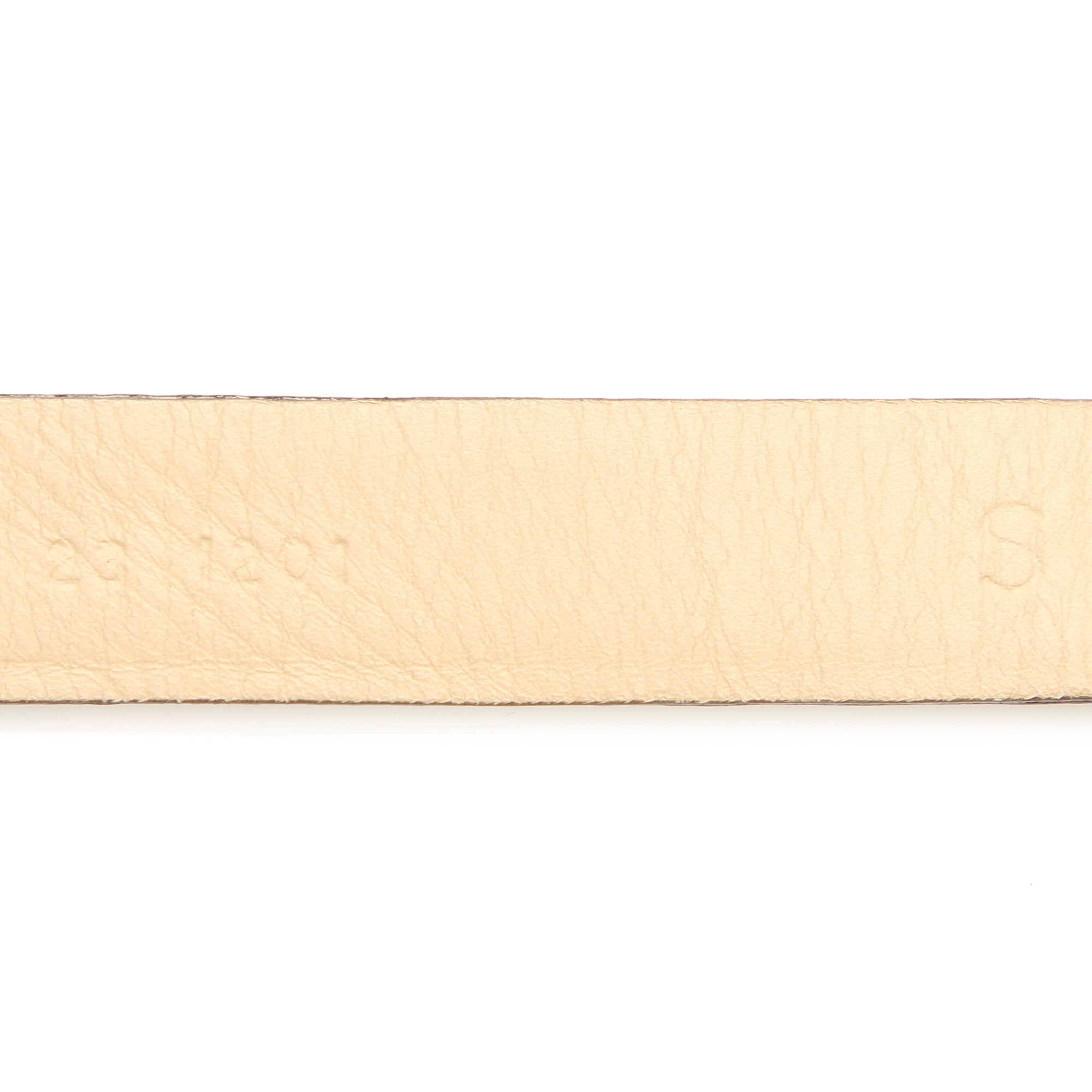 Ferragamo White Python Leather Belt