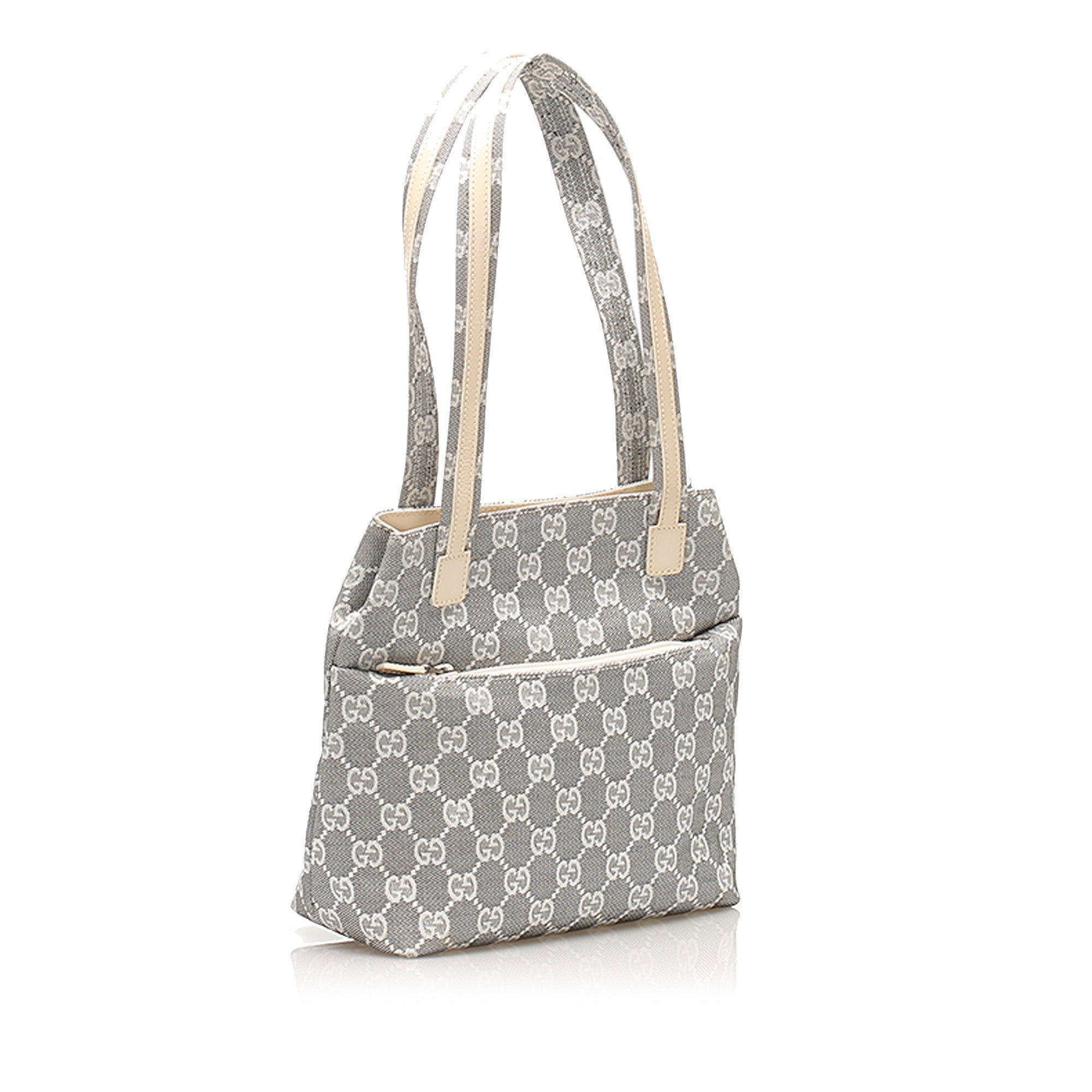 Gucci Gray GG Canvas Tote Bag