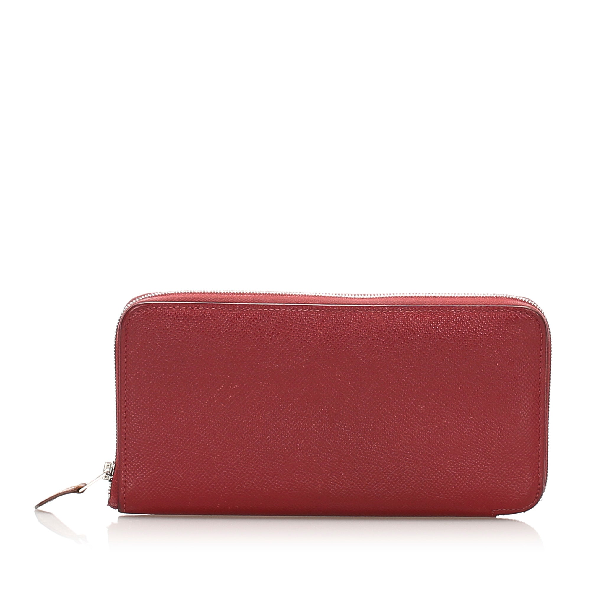 Hermes Red Epsom Azap Wallet
