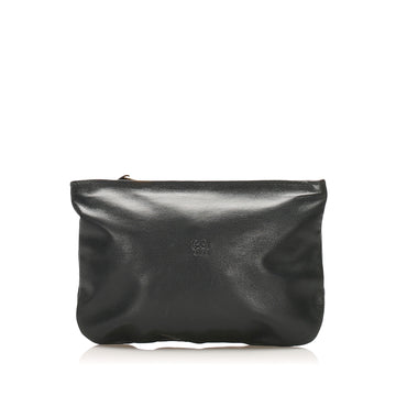 Loewe Black Anagram Leather Pouch