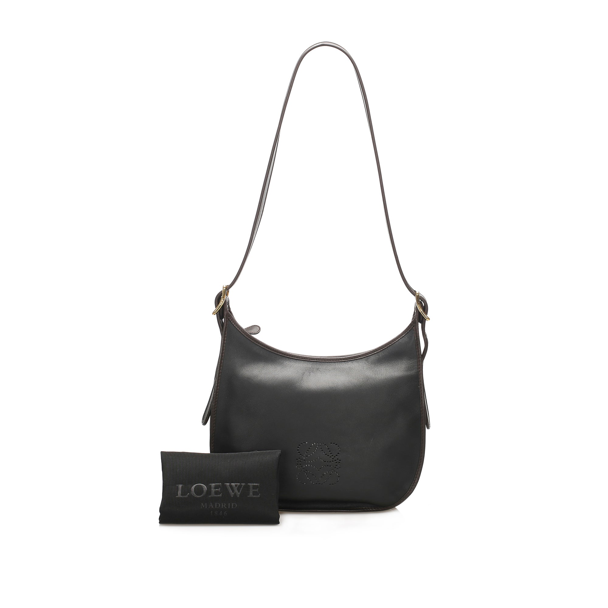 Loewe Black Anagram Sofia Leather Crossbody Bag