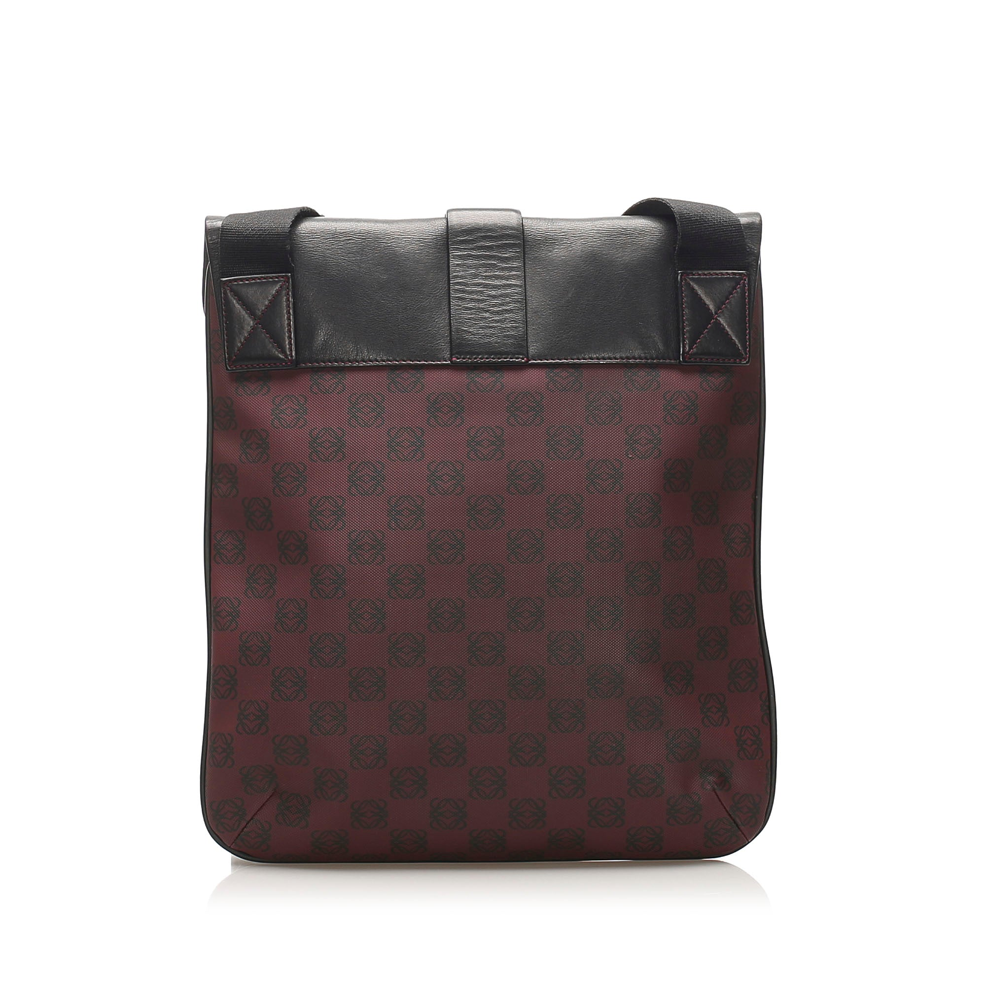 Loewe Brown Printed Anagram Leather Crossbody Bag