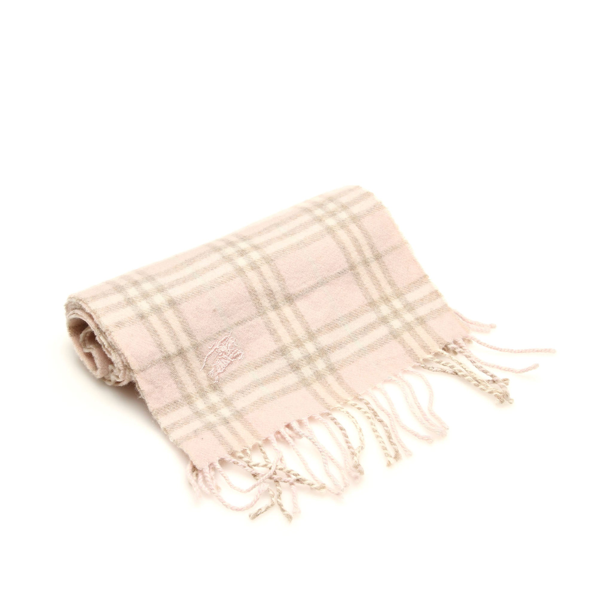 Burberry Brown House Check Wool Scarf