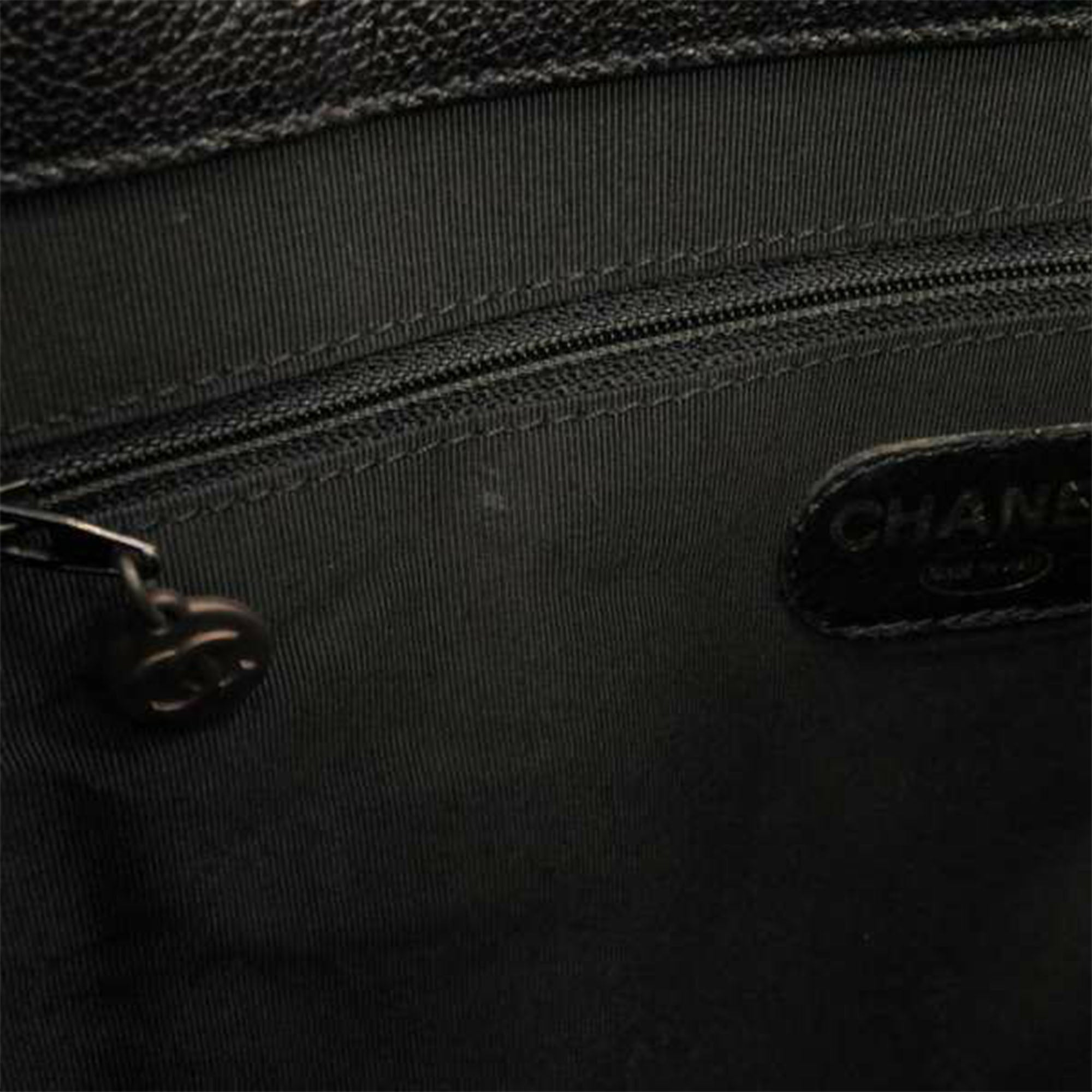 Chanel Black Caviar Leather Tote Bag
