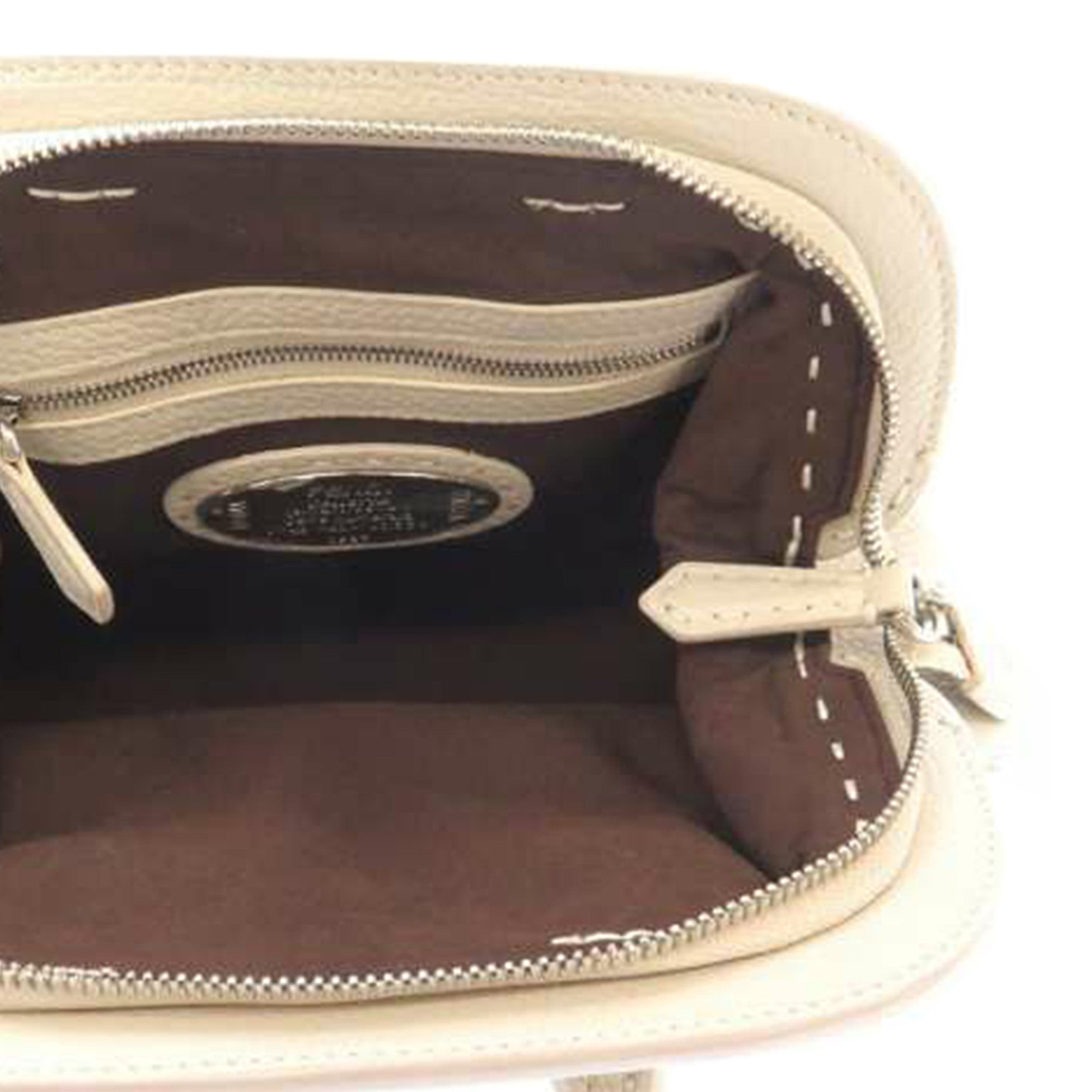 Fendi White Mini Selleria Adele