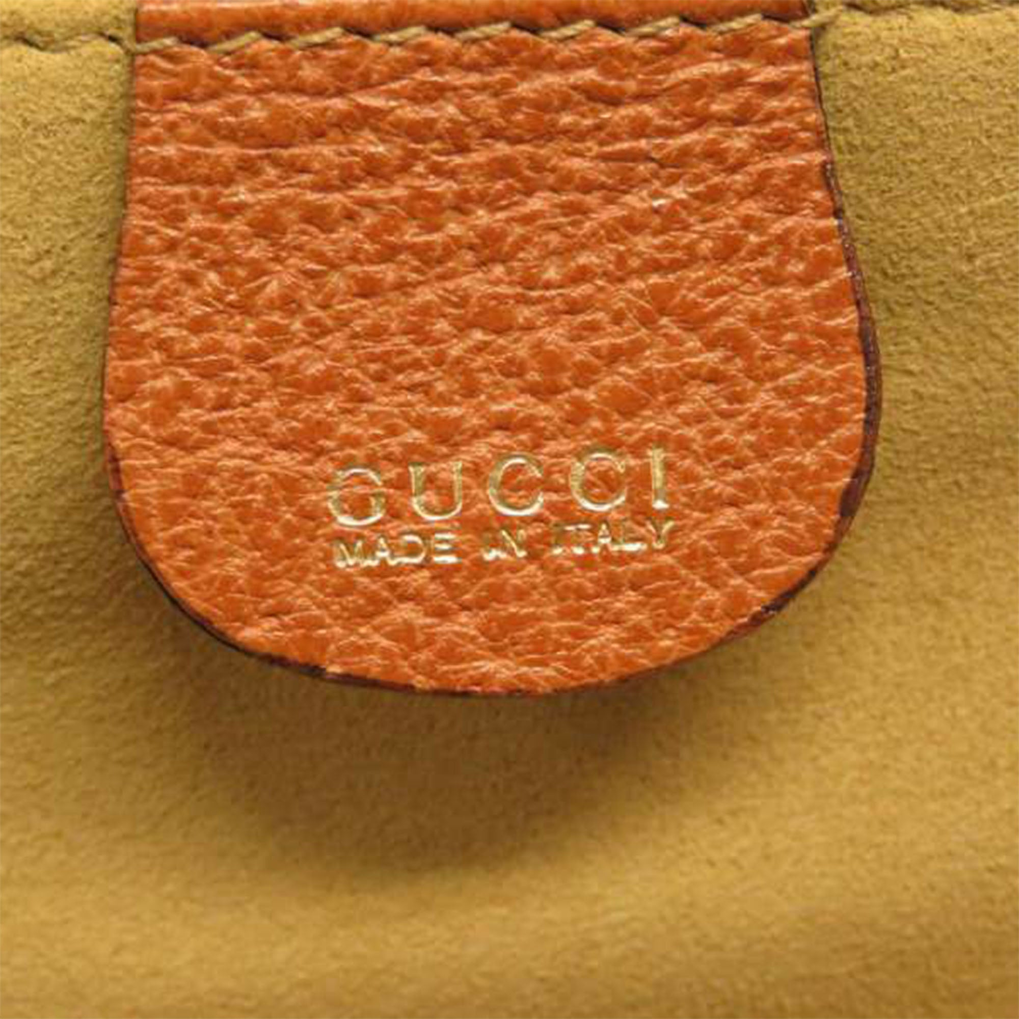 Gucci Brown Bamboo Leather Vanity Bag