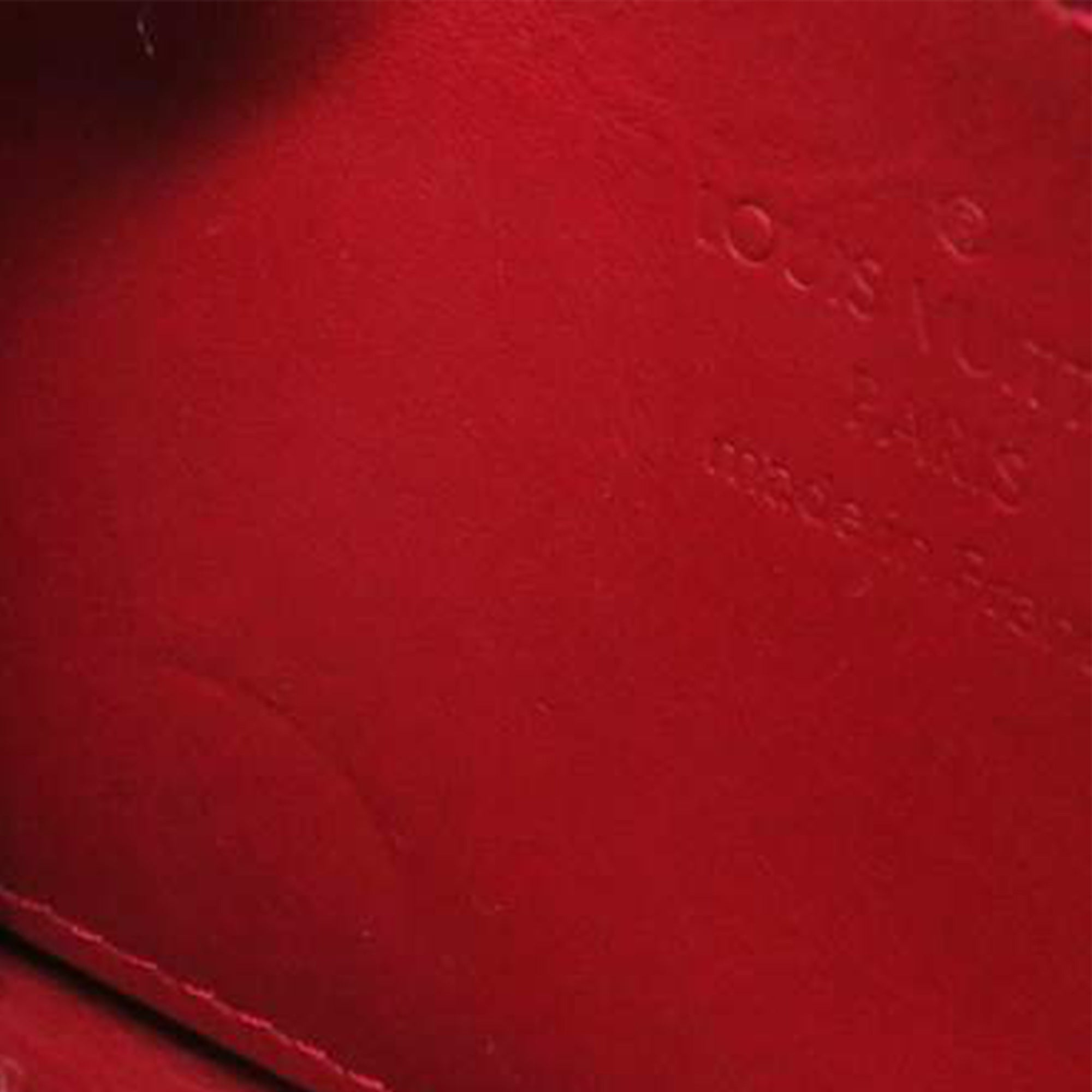 Louis Vuitton Red Vernis Rayures Zippy Coin Pouch