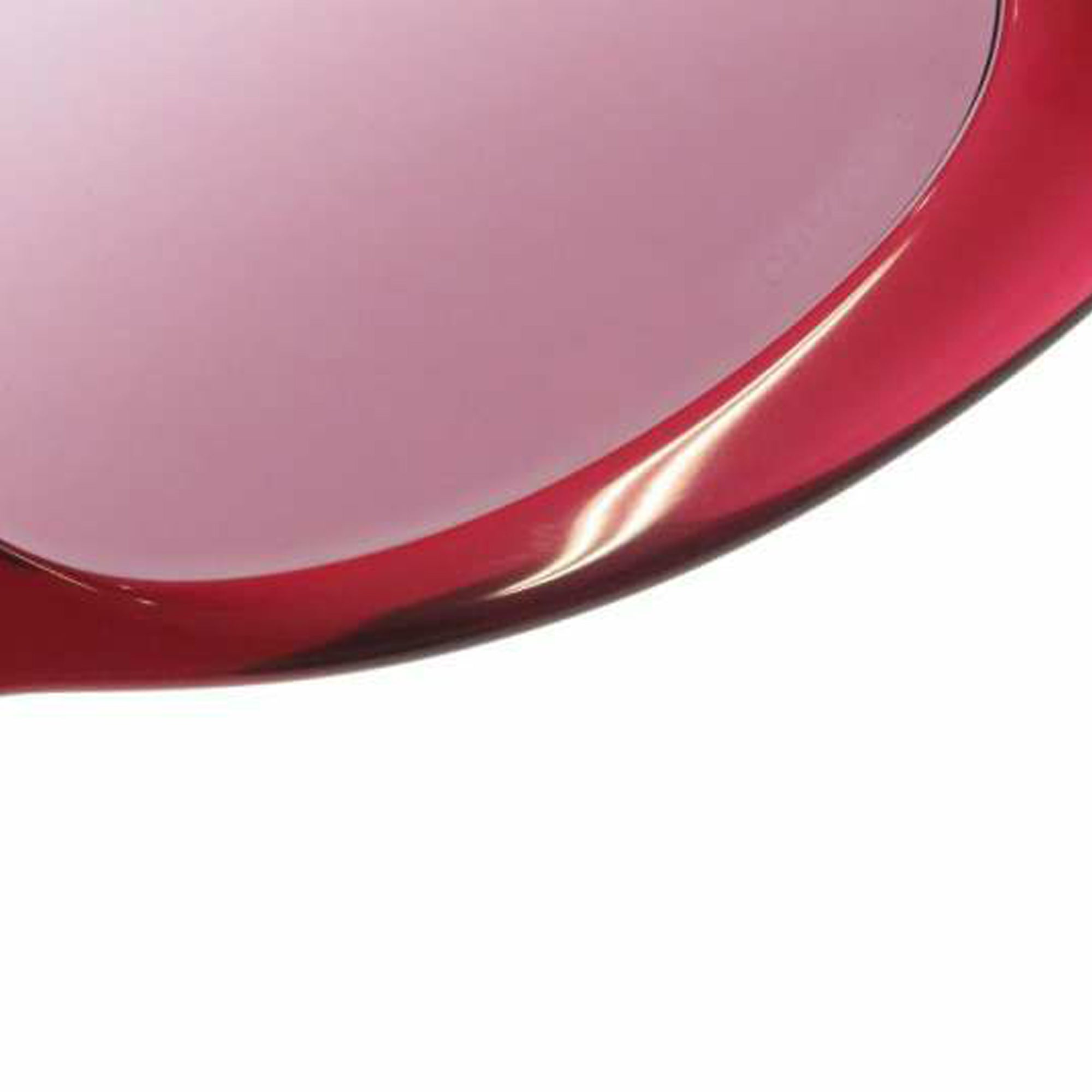 Chanel Red Camellia Round Tinted Sunglasses