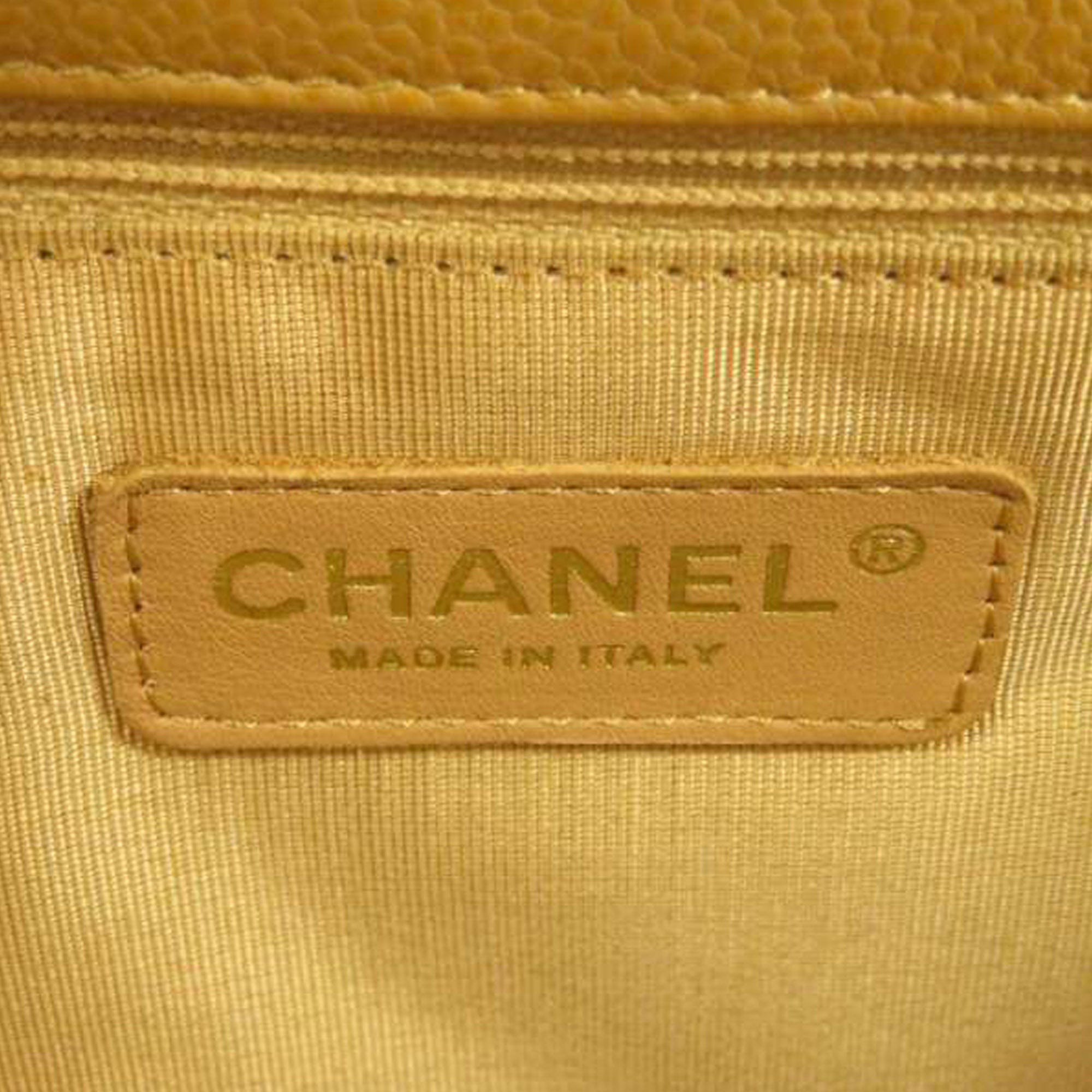 Chanel Brown Petite Shopping Caviar Leather Tote Bag