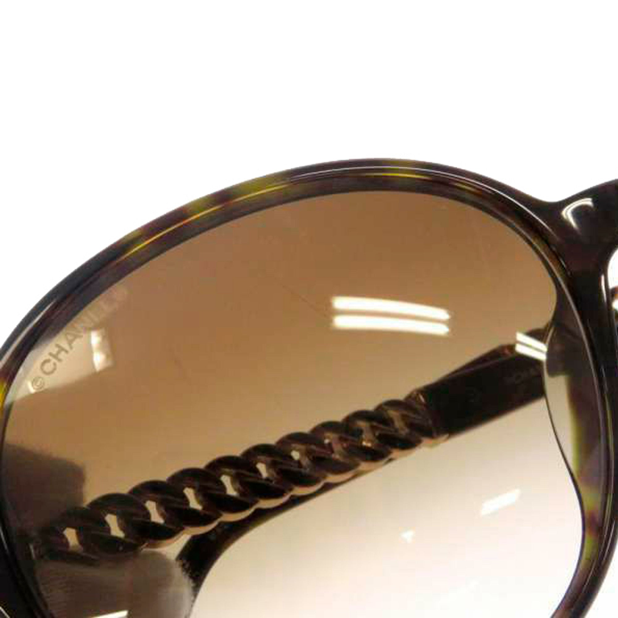 Chanel Brown Round Tinted Sunglasses
