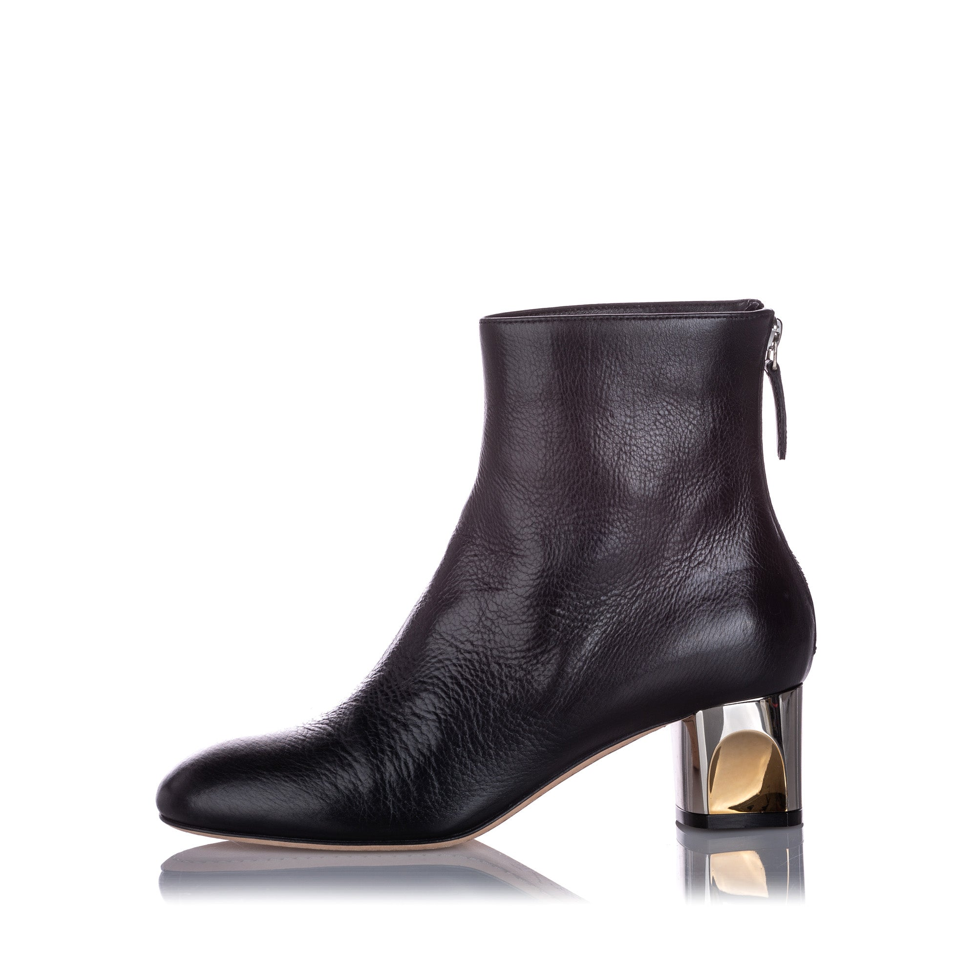 Alexander McQueen Black Ankle Leather Boot