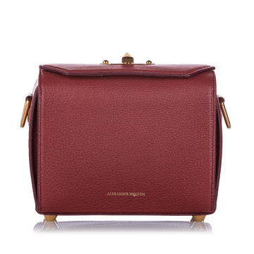 Alexander McQueen Red Box 19 Leather Crossbody Bag