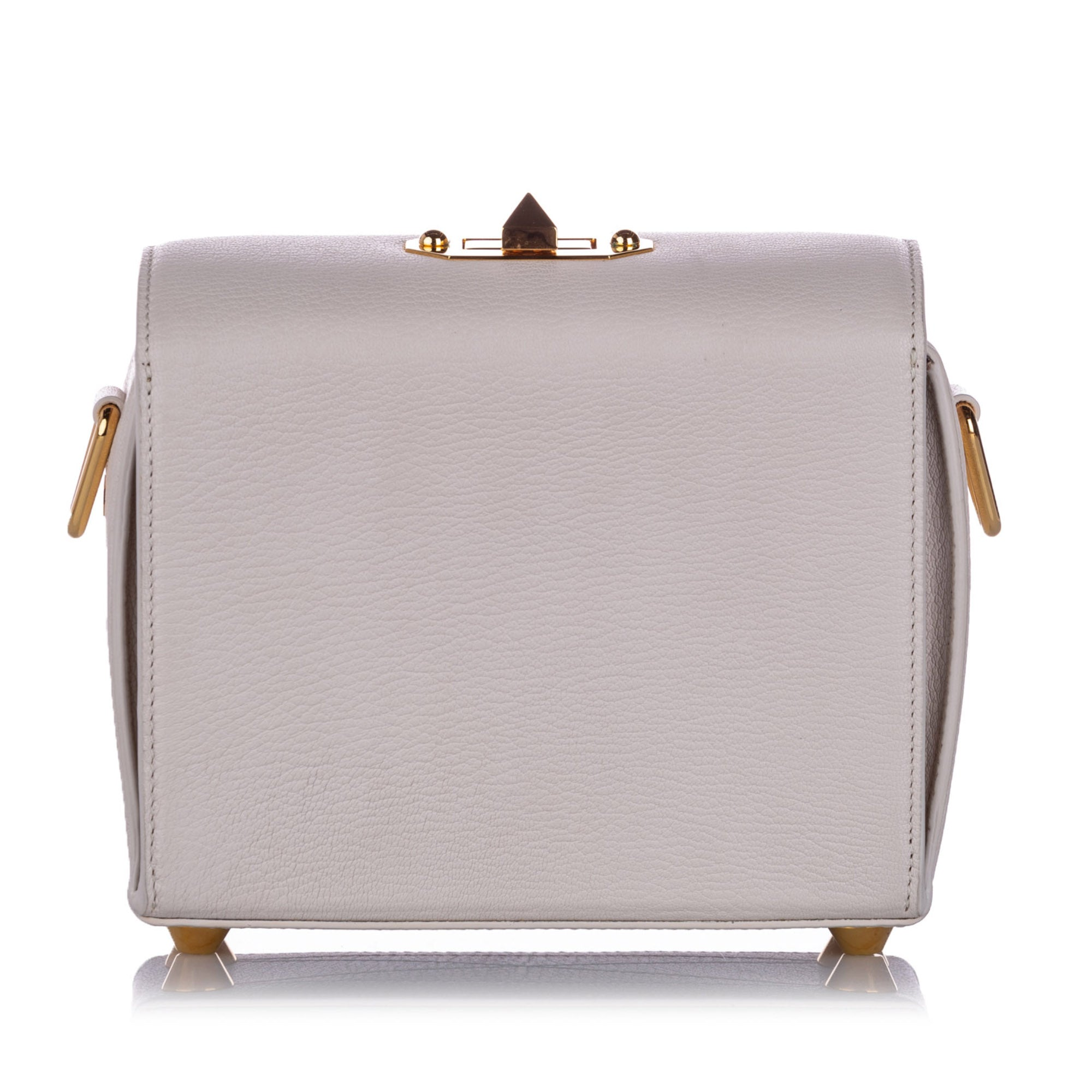 Alexander McQueen White Box 19 Leather Crossbody Bag