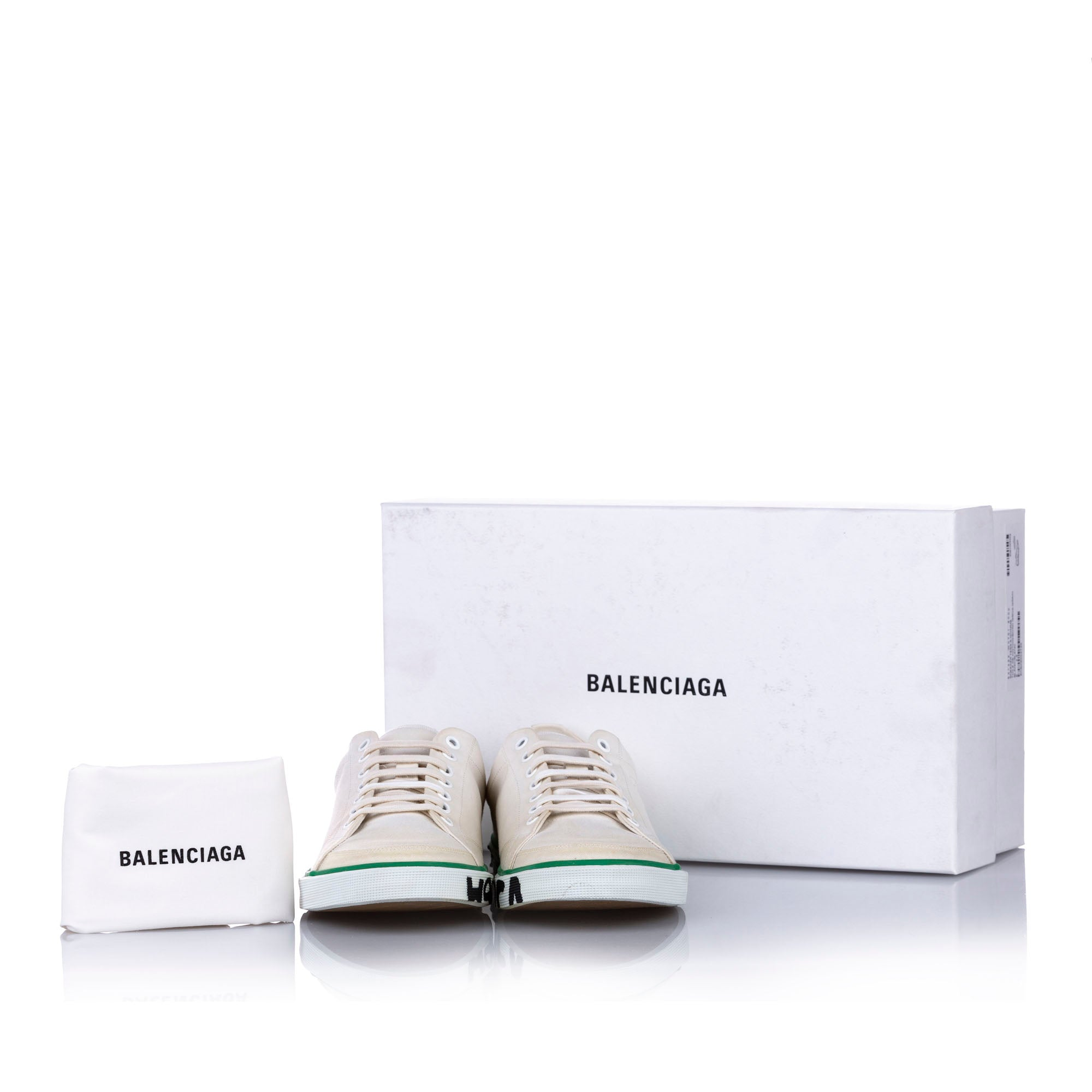 Balenciaga White Match Canvas Sneaker