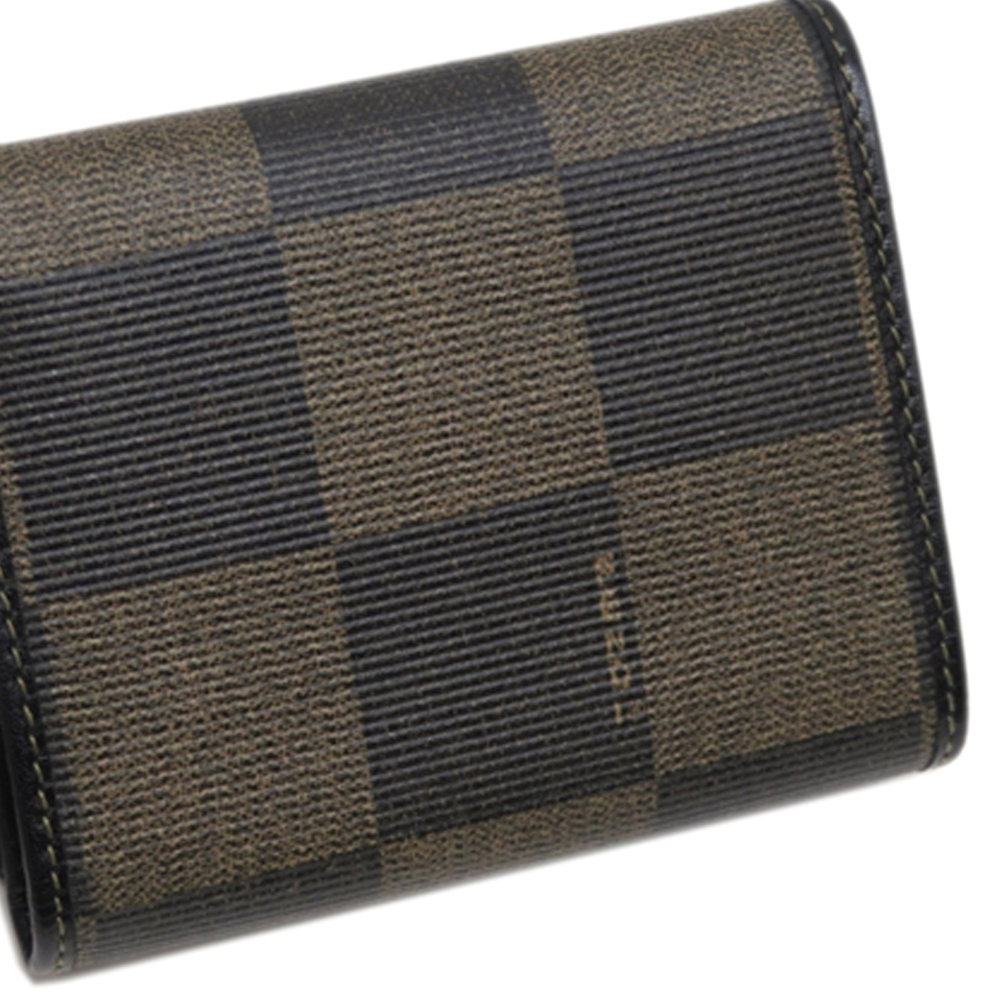 Fendi Brown Pequin Small Wallet