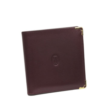 Cartier Red Bi-Fold Must De Cartier Leather Small Wallet