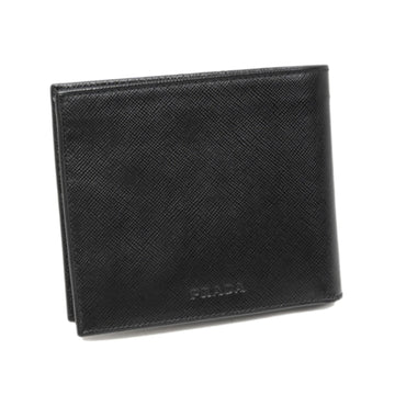 Prada Black Bi-Fold Saffiano Leather Small Wallet