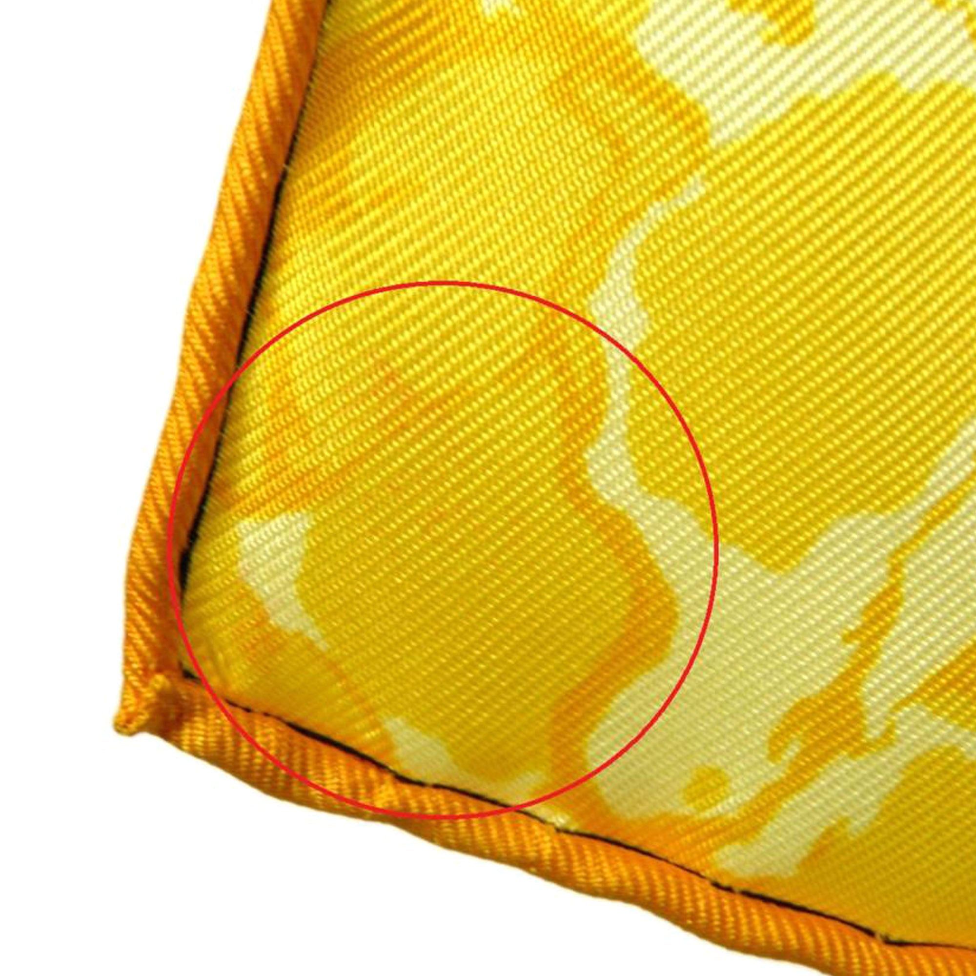 Hermes Yellow Carpe Diem Silk Scarf