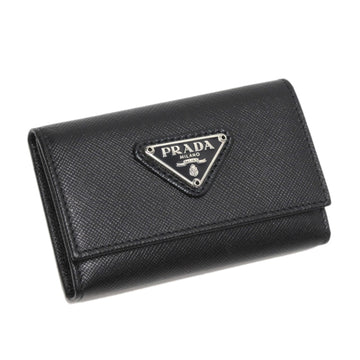 Prada Black Saffiano Key Holder
