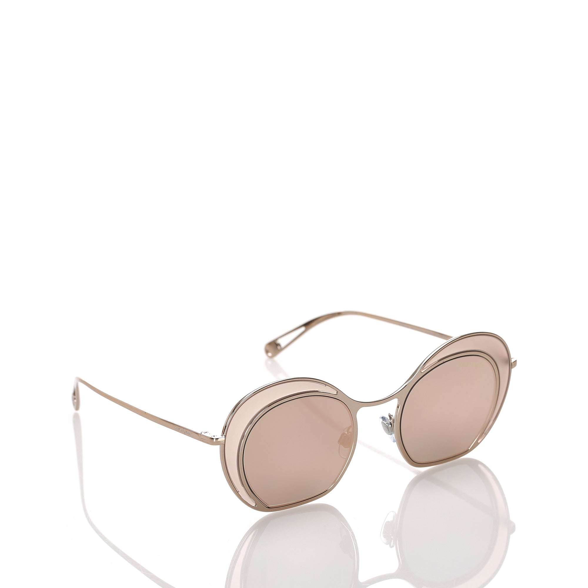 Armani Gold Round Mirror Sunglasses