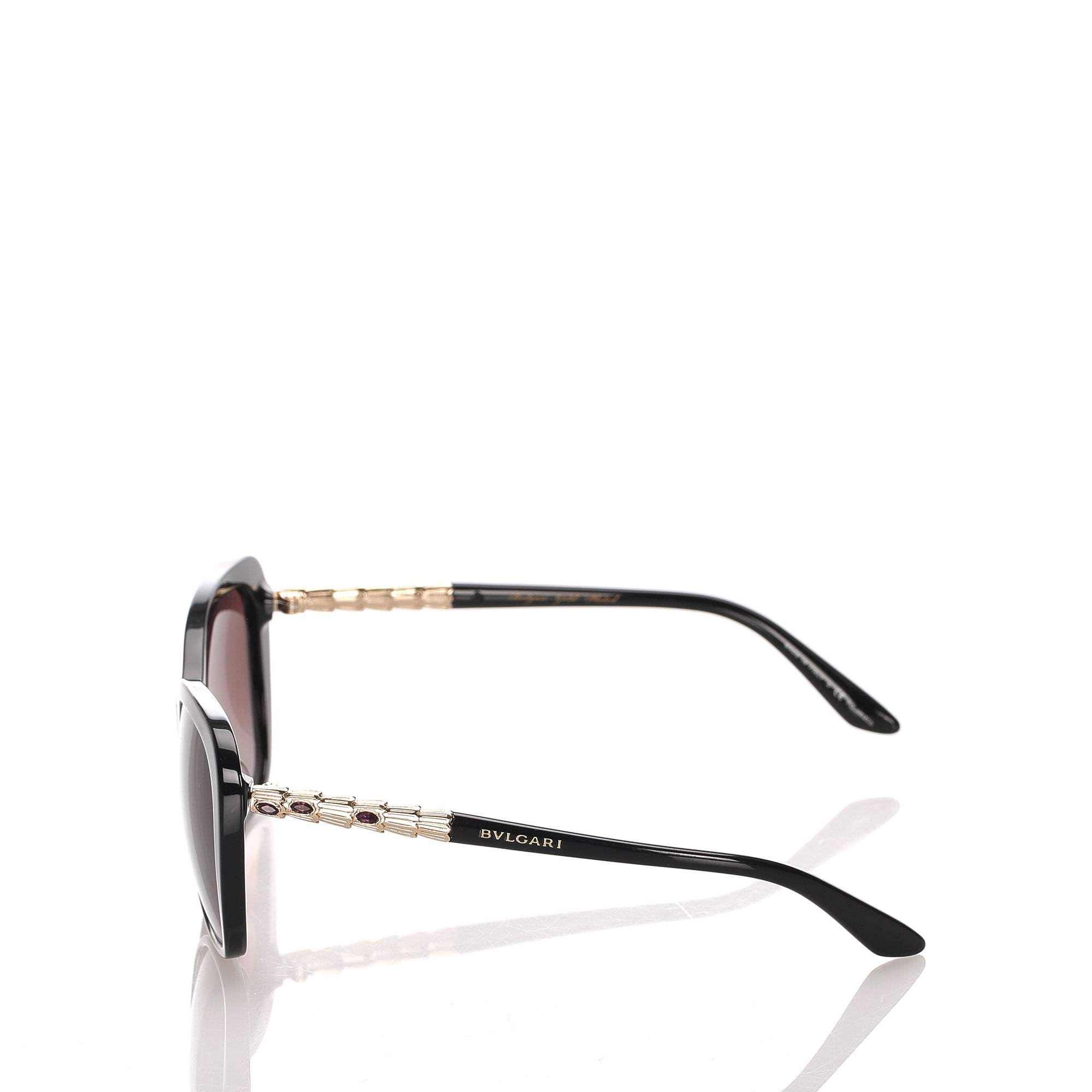 Bvlgari Black Cat Eye Tinted Sunglasses