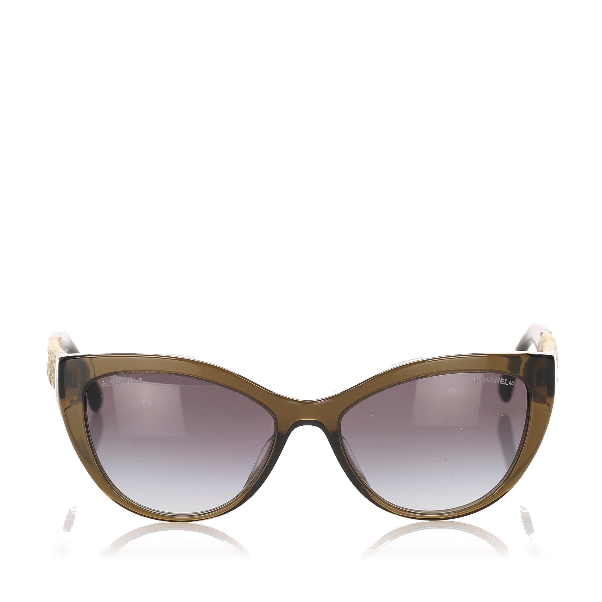 Chanel Brown Cat Eye Tinted Sunglasses