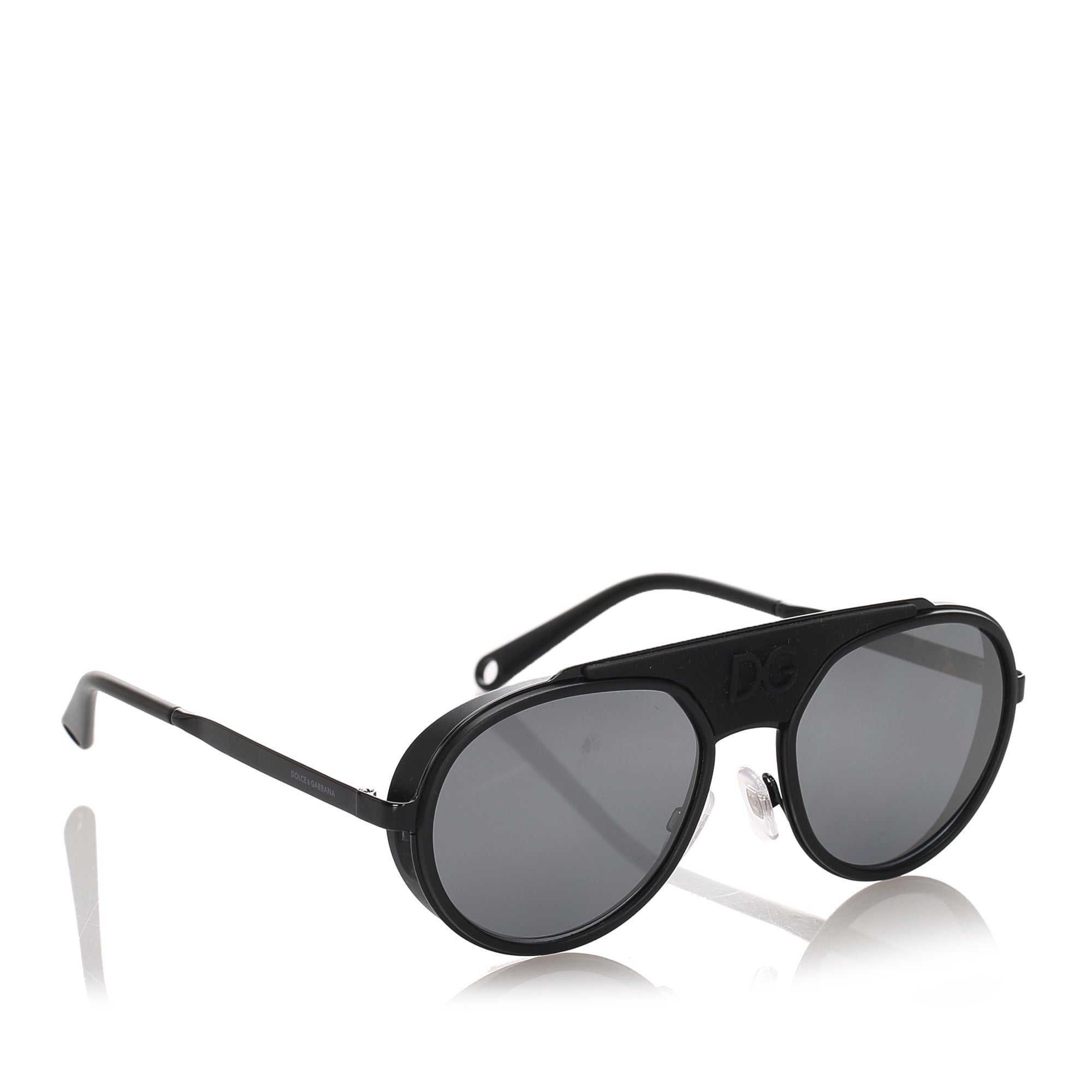 Dolce&Gabbana Red Round Mirror Sunglasses