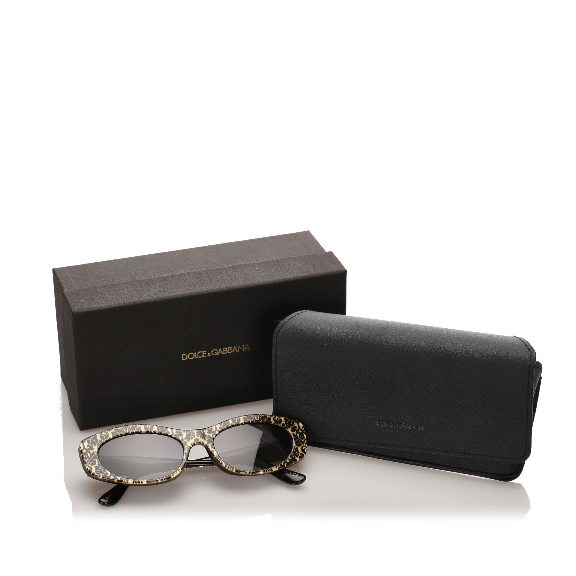 Dolce&Gabbana Brown Oval Tinted Sunglasses