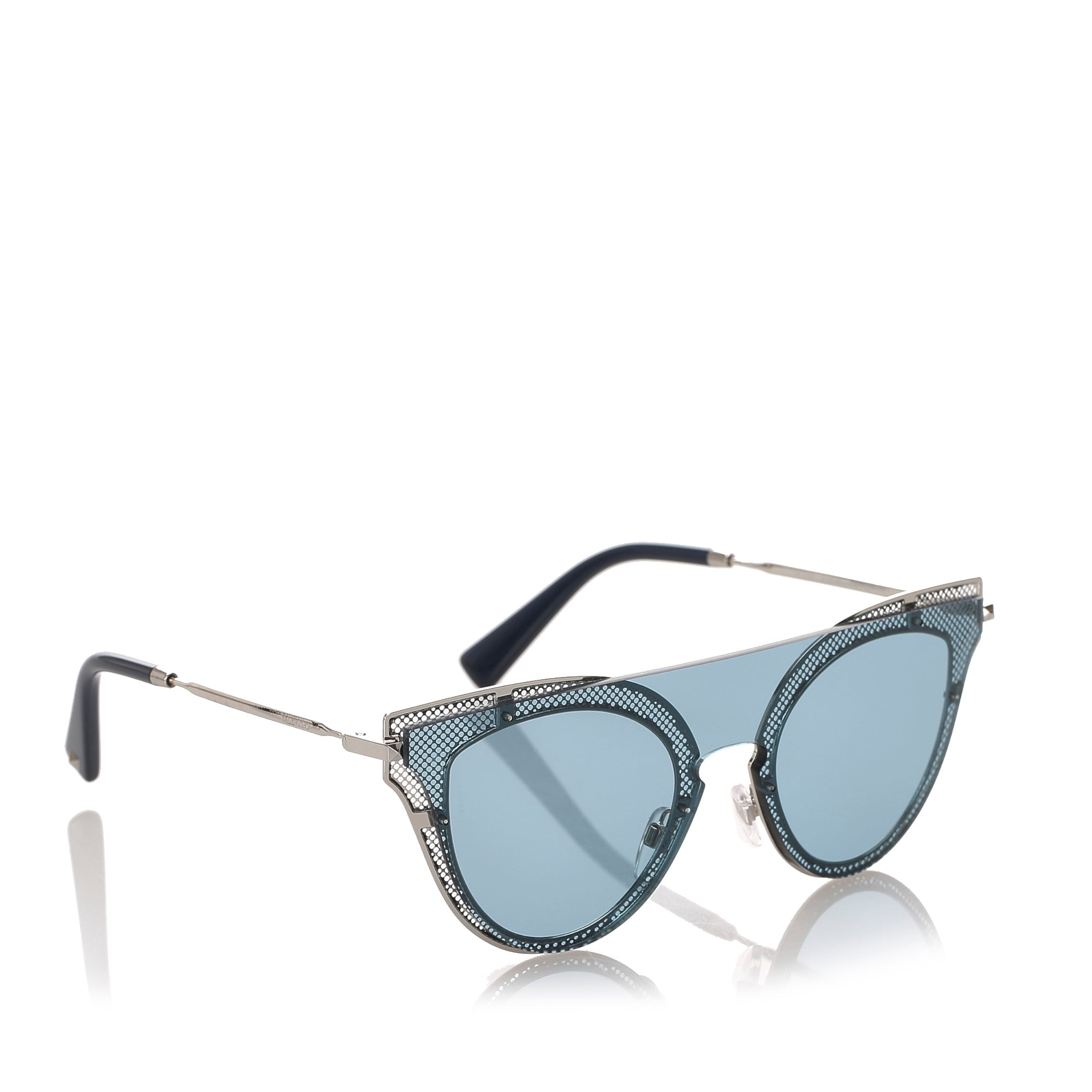 Valentino Blue Cat Eye Tinted Sunglasses