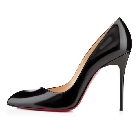 Christian Louboutin Corneille 100 Black Calf Pumps Size 8