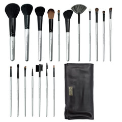 Brush Essentials™ 18pc Kit - all brushes lined up next to wrap side-by-side