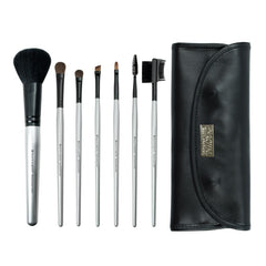 Brush Essentials™ 7pc Kit - all brushes lined up next to wrap side-by-side