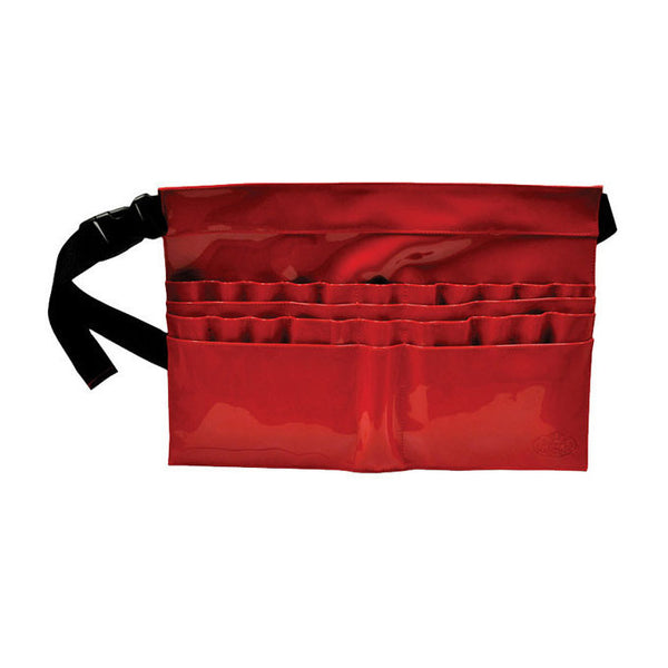 28-Compartment Red Brush Belt for Makeup Artists