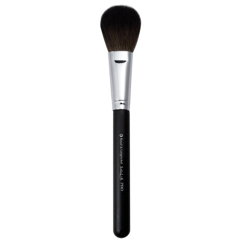 Full view of S.I.L.K® Synthetic Blush makeup brush facing left