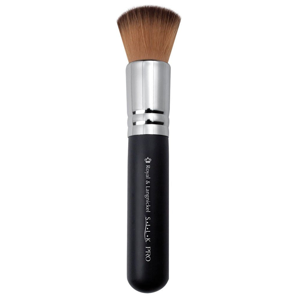 Full view of S.I.L.K® Synthetic Bronzer makeup brush facing left