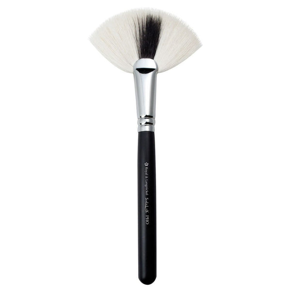 Full view of S.I.L.K® Kabuki Fan makeup brush facing left