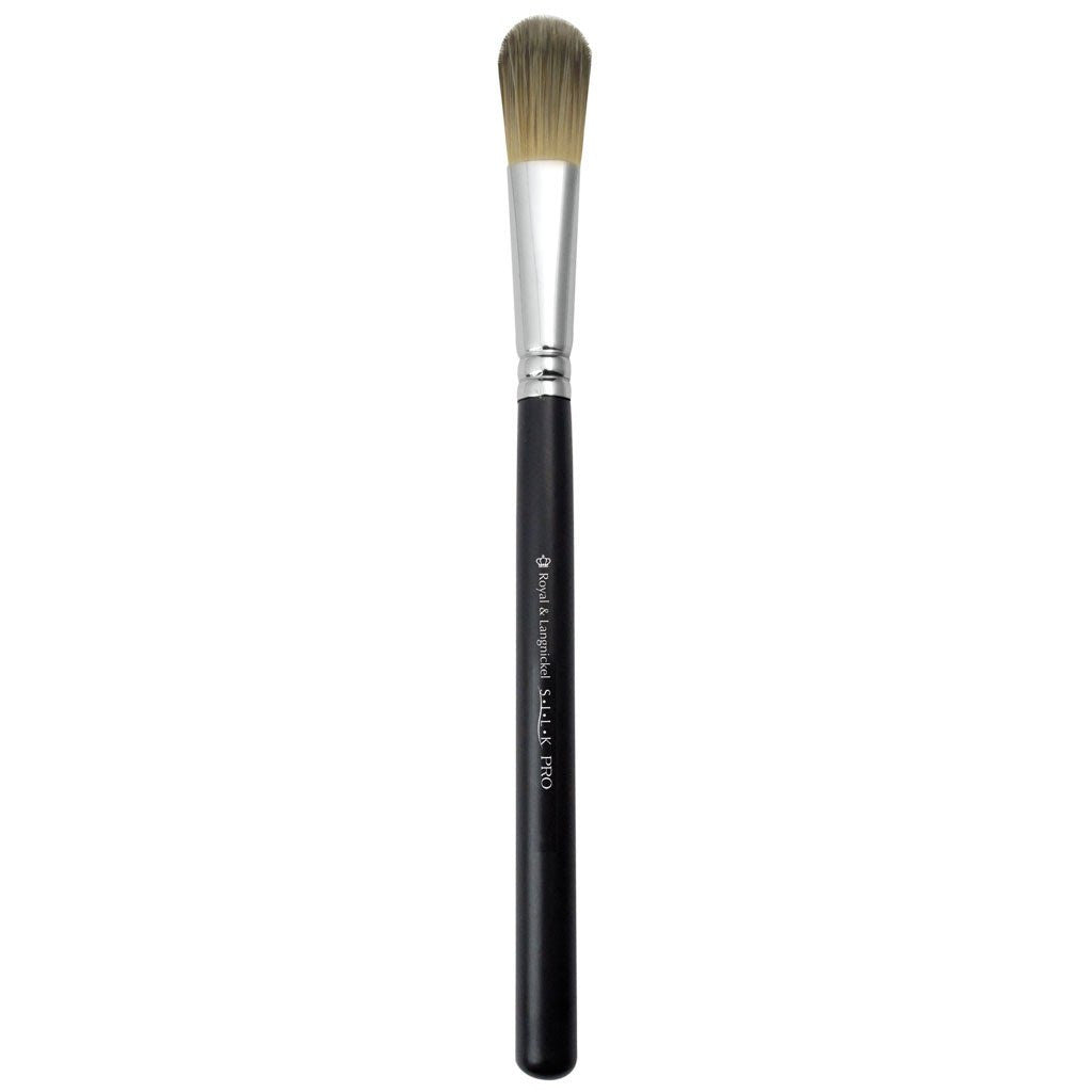 Full view of S.I.L.K® Small Foundation makeup brush facing left