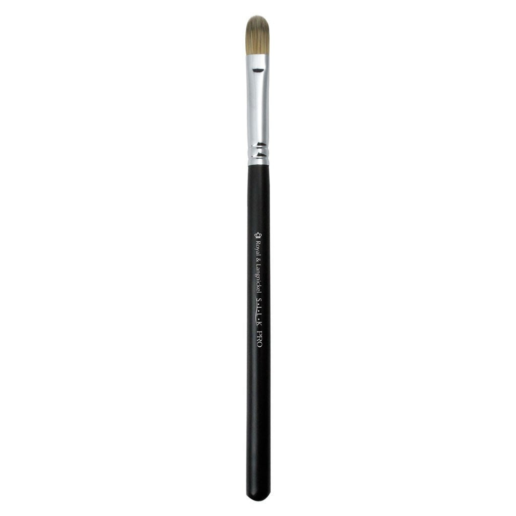 Full view of S.I.L.K® Large Concealer makeup brush facing left