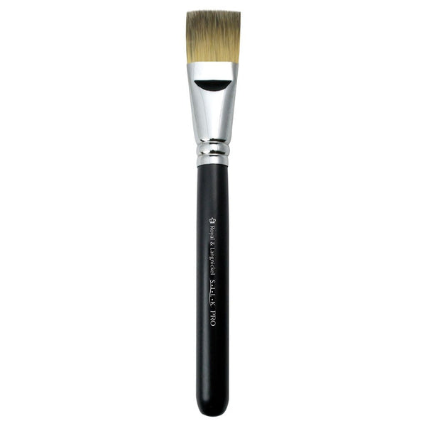 S.I.L.K® Flat Foundation Full view of S.I.L.K® Flat Foundation makeup brush facing left