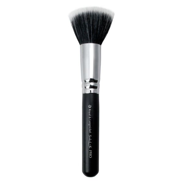 Full view of S.I.L.K® Large Stippler makeup brush facing left