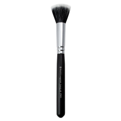 Full view of S.I.L.K® Small Stippler makeup brush facing left