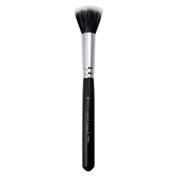 S.I.L.K® SM Stippler Full view of S.I.L.K® Small Stippler makeup brush facing left