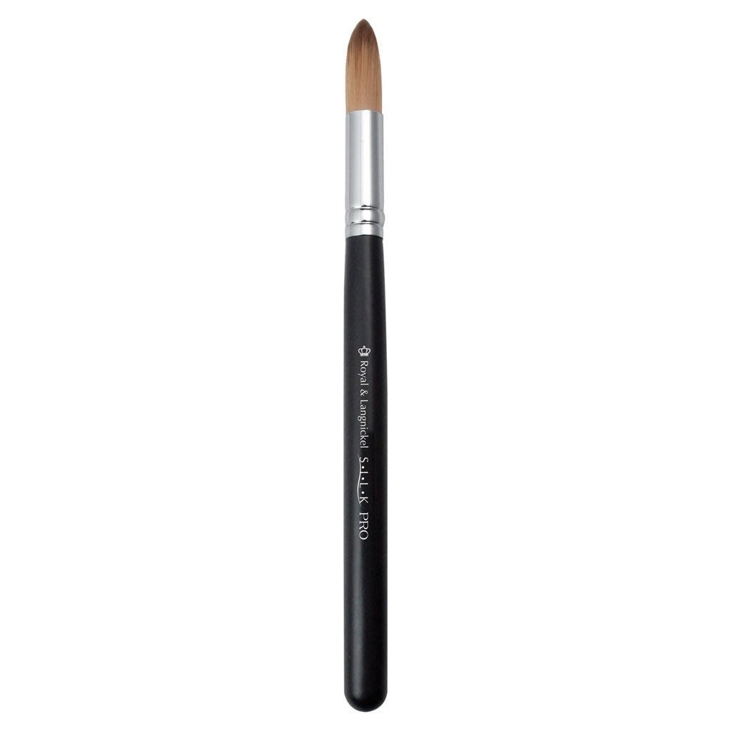 Full view of S.I.L.K® Synthetic Shadow makeup brush facing left