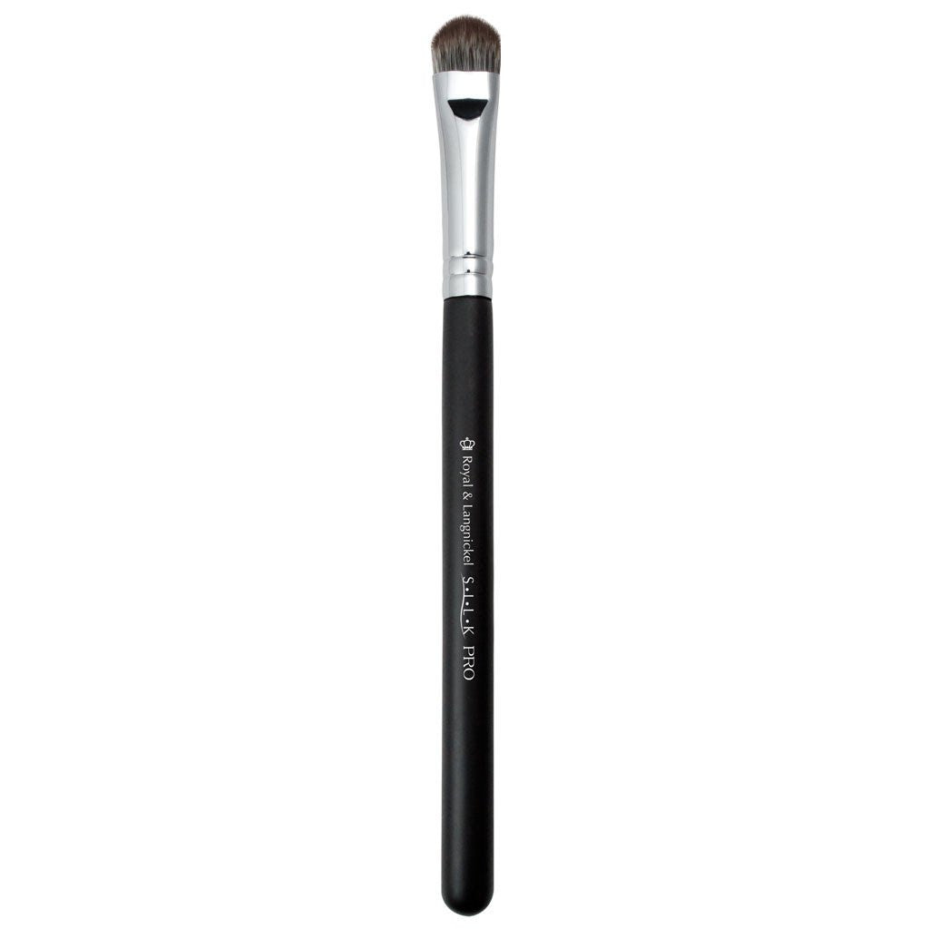 Full view of S.I.L.K® Synthetic Medium Eye Shader makeup brush facing left