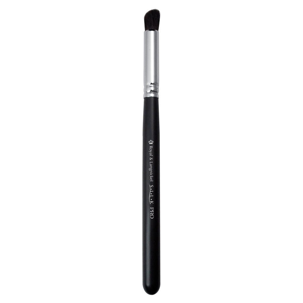 Full view of S.I.L.K® Angle Eye Blender makeup brush facing left