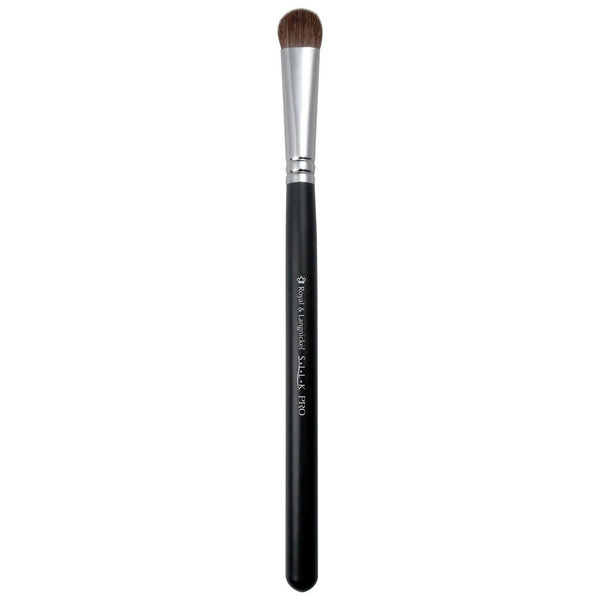 Full view of S.I.L.K® Eye Fluff makeup brush facing left