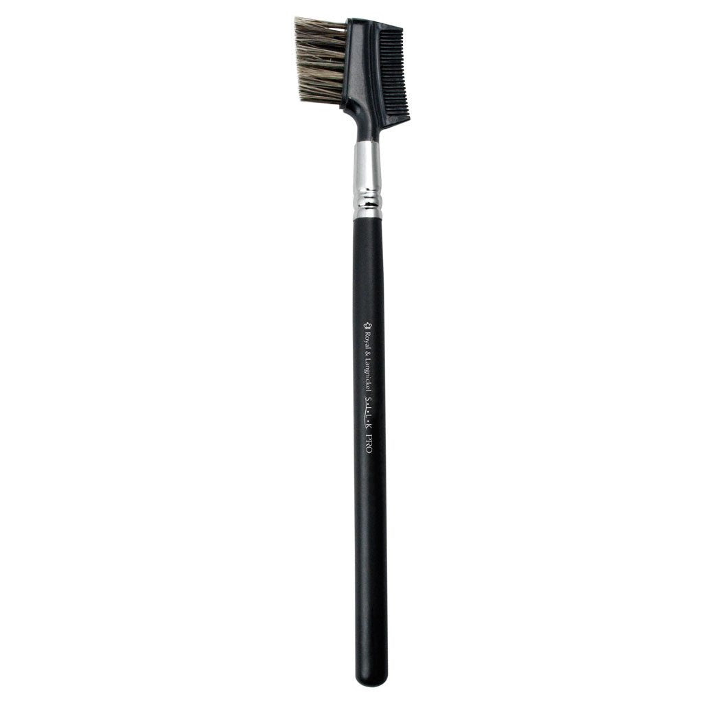 Full view of S.I.L.K® Brow/Lash Comb makeup brush facing left