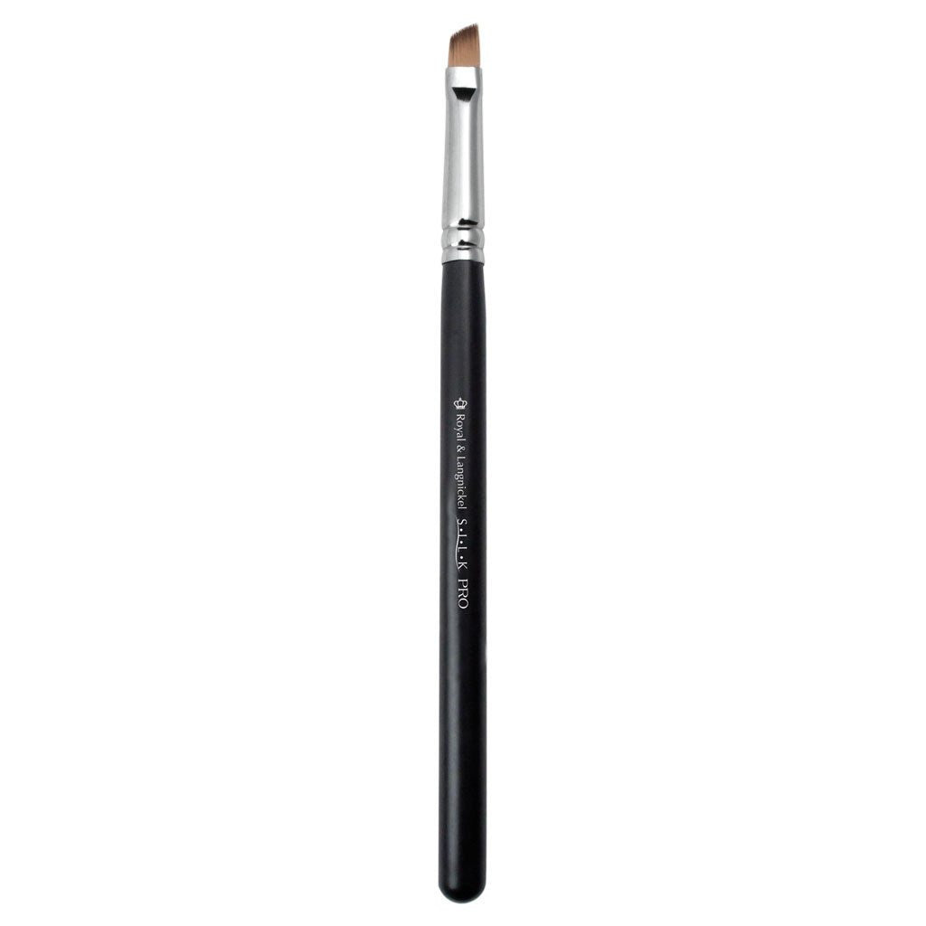 Full view of S.I.L.K® Brow makeup brush facing left
