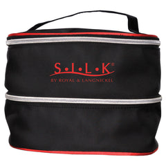 S.I.L.K® Black Dual-Compartment Cosmetic Bag